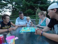 Adoptive Family Photo: Game Night with Our Nephews, click to view bigger version