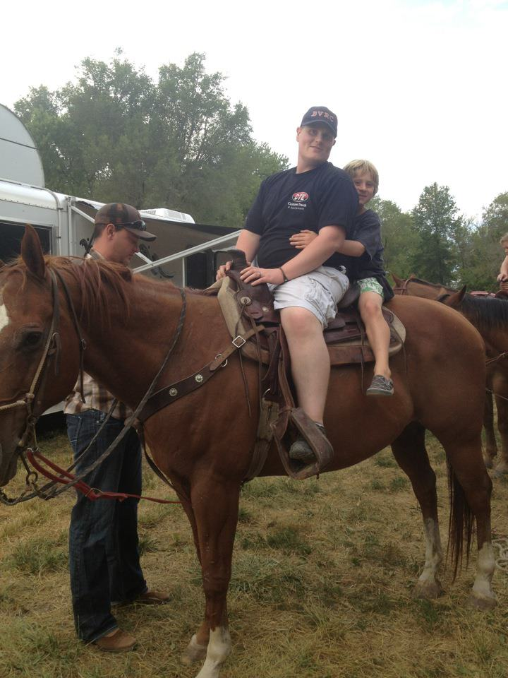 Riding Horses with Our Nephew