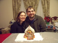 Adoptive Family Photo: A Yearly Tradition - Making a Gingerbread House, click to view bigger version