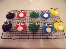 Adoptive Family Photo: We Love to Make Themed Projects - Like Angry Birds Cupcakes!, click to view bigger version