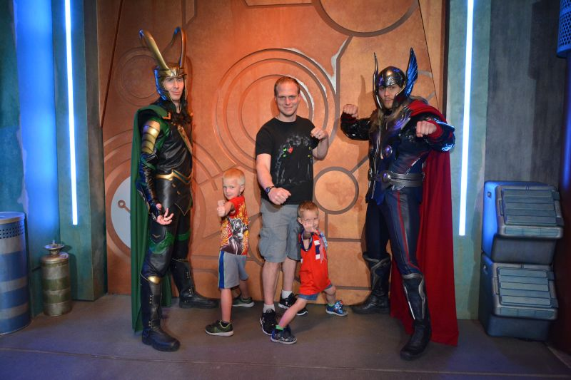 Hanging with Their Favorite Superheroes
