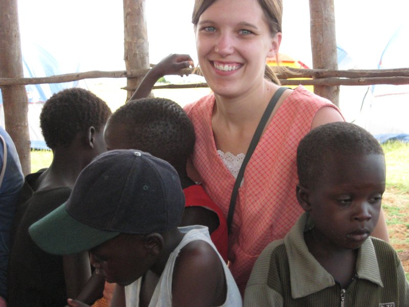 Becky in Africa for School