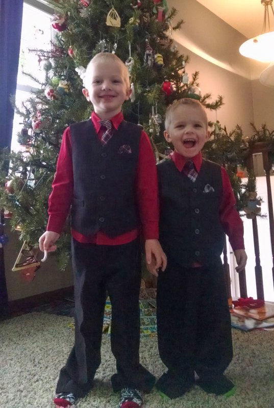 Dressed Up for Their School Concert