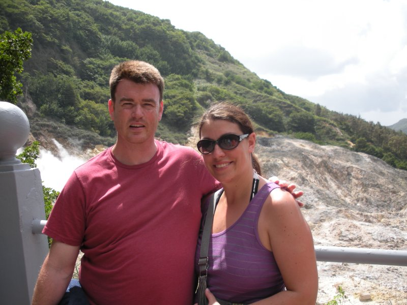 Exploring a Volcano in  St. Lucia
