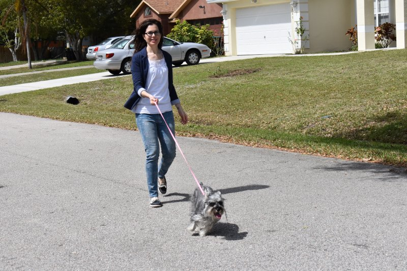 Taking Our Dog, Bella, for a Walk