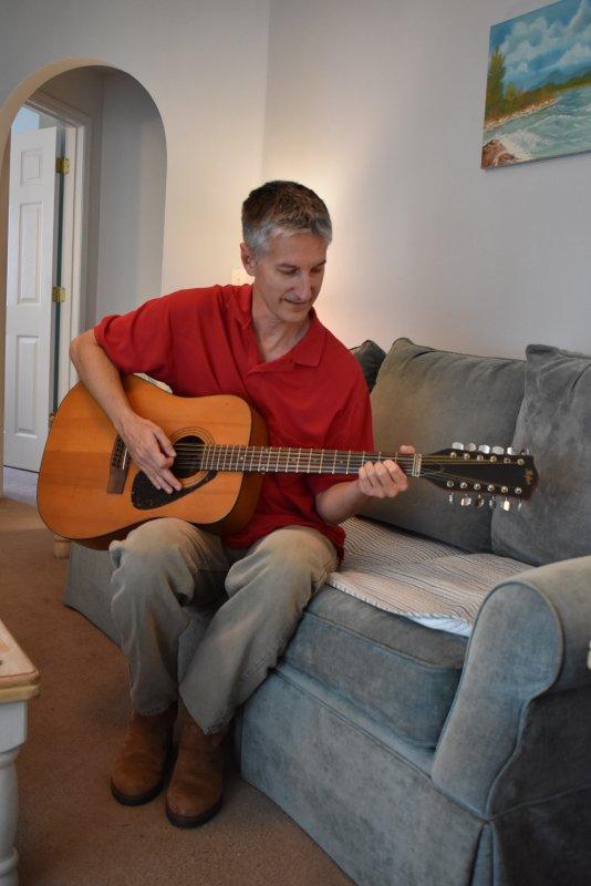 Gary Playing Guitar