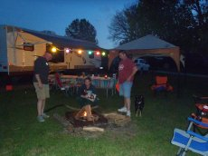 Adoptive Family Photo: We Love a Good Campfire!, click to view bigger version