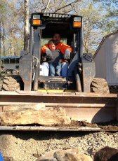 Adoptive Family Photo: Brian & Our Nephew Love Tractors, click to view bigger version