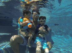 Adoptive Family Photo: Underwater!, click to view bigger version