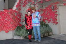 Adoptive Family Photo: The Ladybug of the House and a Hippie, click to view bigger version