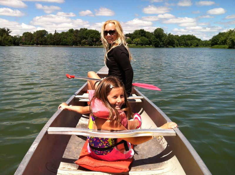 Canoeing With Our Niece
