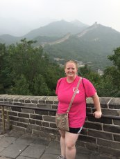 Adoptive Family Photo: Jessica Hiking the Great Wall of China, click to view bigger version