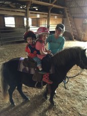 Adoptive Family Photo: Pony Ride, click to view bigger version