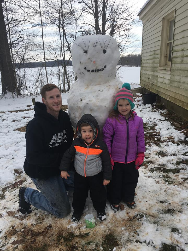 Building a Snowman With Dad