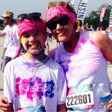 Adoptive Family Photo: Color Run Fun, click to view bigger version