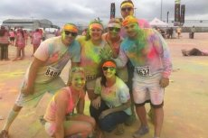 Adoptive Family Photo: Fun Run With Friends, click to view bigger version