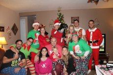 Adoptive Family Photo: Annual Christmas PJ Party, click to view bigger version