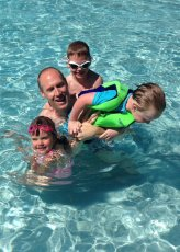 Adoptive Family Photo: Splish Splash with Uncle Justin, click to view bigger version