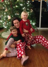 Adoptive Family Photo: Christmas Jammies with Our Nephews, click to view bigger version