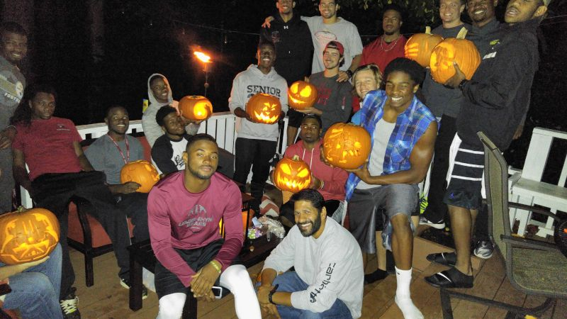 Pumpkin Carving Contest with the Team