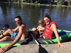 Adoptive Family Photo: Kayaking Fun, click to view bigger version