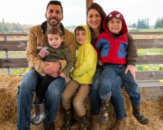 Adoptive Family Photo: Hay Ride at the Pumpkin Patch, click to view bigger version