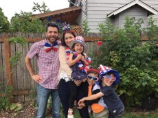 Adoptive Family Photo: Celebrating Independence Day, click to view bigger version