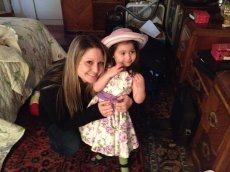Adoptive Family Photo: Playing Dress Up with Our Niece, click to view bigger version