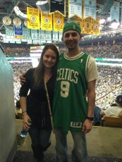 Adoptive Family Photo: Cheering on the Celtics, click to view bigger version