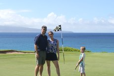 Adoptive Family Photo: Golfing in Maui