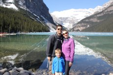Adoptive Family Photo: Family Vacation to Lake Louise