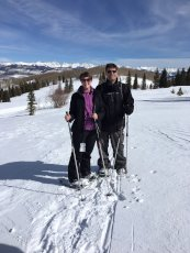 Adoptive Family Photo: Snowshoeing in Colorado