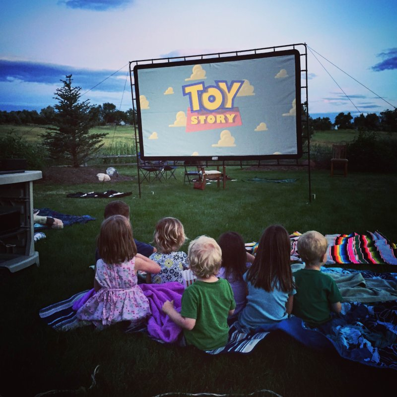 Movie Night with Friends in Our Backyard