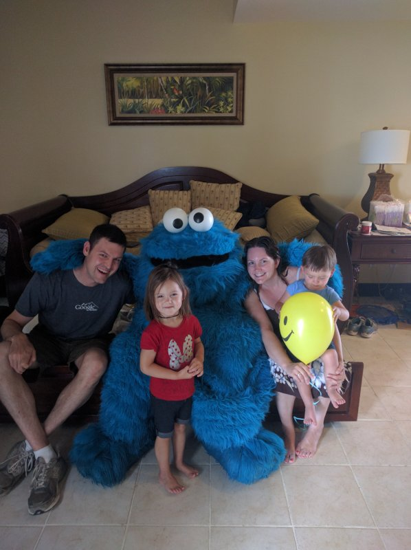 Meeting Cookie Monster on Vacation