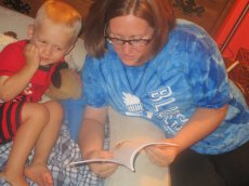 Adoptive Family Photo: Storytime with Our Nephew