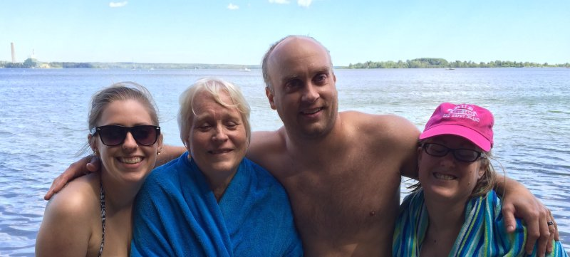 At the Beach with Brian's Mom & Cousin