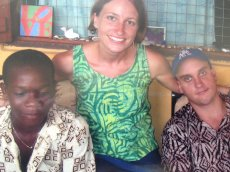 Adoptive Family Photo: Visiting Brian's Sister in Africa