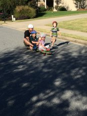 Adoptive Family Photo: Skateboarding with Friends, click to view bigger version