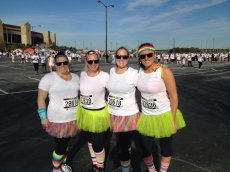 Adoptive Family Photo: Jen at the Color Run with Friends, click to view bigger version
