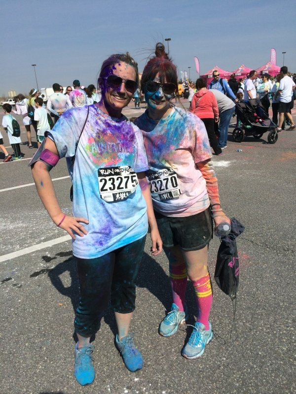 Color Run with Her Best Friend