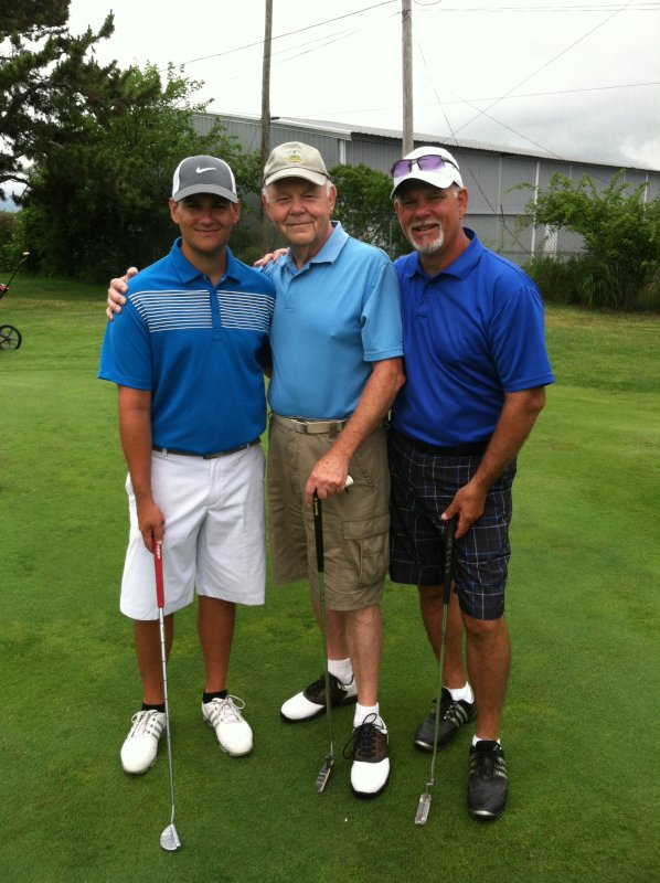 Golfing with His Dad and Grandfather