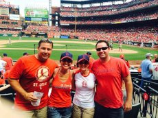 Adoptive Family Photo: Cardinals Game with Friends, click to view bigger version