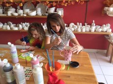 Adoptive Family Photo: Painting With Mommy, click to view bigger version