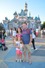 Adoptive Family Photo: The Happiest Place on Earth, click to view bigger version