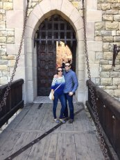 Adoptive Family Photo: Exploring a Castle on Vacation, click to view bigger version
