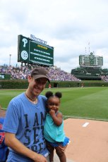 Adoptive Family Photo: Baseball Game with Daddy, click to view bigger version