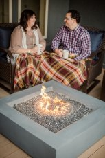 Adoptive Family Photo: Staying Warm by the Fire, click to view bigger version