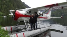 Adoptive Family Photo: Landing on the Water in a Float Plane - Coolest Thing Ever!, click to view bigger version