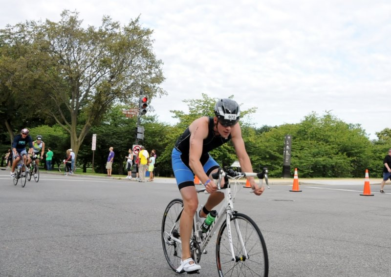 Justin in a Triathlon