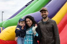 Adoptive Family Photo: Fun with Our Nephew, click to view bigger version